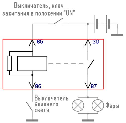 Задержка подсветки замка зажигания 4
